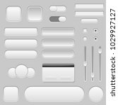 light grey interface buttons ... | Shutterstock .eps vector #1029927127