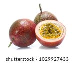 passion fruit isolated on white ... | Shutterstock . vector #1029927433