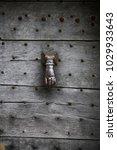 wooden door old and dark wooden ... | Shutterstock . vector #1029933643