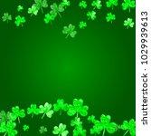 shamrock background for saint...   Shutterstock .eps vector #1029939613