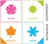 four logos and four colors... | Shutterstock .eps vector #1029942547
