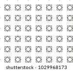 geometric ornamental vector... | Shutterstock .eps vector #1029968173