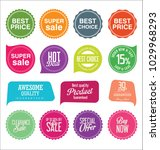 sale stickers and tags colorful ... | Shutterstock .eps vector #1029968293