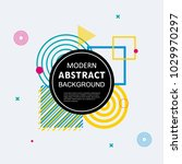 modern abstract circle... | Shutterstock .eps vector #1029970297