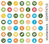 communication icons set | Shutterstock .eps vector #1029974713