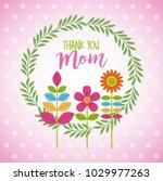 wreath floral flowers...   Shutterstock .eps vector #1029977263