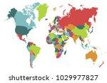 political world map | Shutterstock .eps vector #1029977827