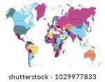 political world map | Shutterstock .eps vector #1029977833
