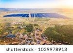 aerial rural photovoltaic solar ... | Shutterstock . vector #1029978913
