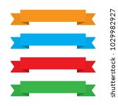 flat ribbons banners. ribbons... | Shutterstock .eps vector #1029982927