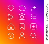 set of social media icons like ... | Shutterstock .eps vector #1029992143