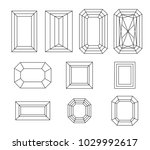 diamond. vector set of gems... | Shutterstock .eps vector #1029992617