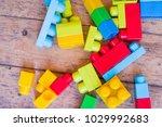 designer blocks. plastic toy... | Shutterstock . vector #1029992683
