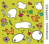 a set of doodle elements | Shutterstock .eps vector #102999323