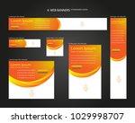 six web banners standard sizes... | Shutterstock .eps vector #1029998707