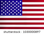 vector concept of usa flag. red ... | Shutterstock .eps vector #1030000897