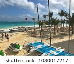cancun  mexico   january 27 ... | Shutterstock . vector #1030017217