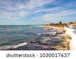 playa paraiso  mexico  ... | Shutterstock . vector #1030017637