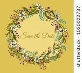 handdrawn wreath made in vector.... | Shutterstock .eps vector #1030022737
