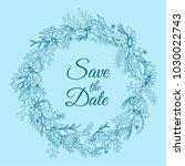 handdrawn wreath made in vector.... | Shutterstock .eps vector #1030022743