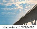toll way on blue sky with... | Shutterstock . vector #1030026307