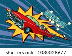electric car space  high speed. ... | Shutterstock .eps vector #1030028677