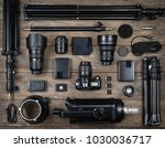 set of the camera and... | Shutterstock . vector #1030036717