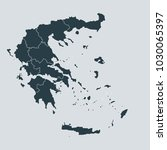 greece map on gray background... | Shutterstock .eps vector #1030065397