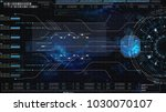 hi tech user interface head up... | Shutterstock . vector #1030070107