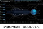 hi tech user interface head up... | Shutterstock . vector #1030070173