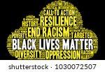 black lives matter word cloud... | Shutterstock .eps vector #1030072507