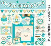 wedding s day scrapbook... | Shutterstock .eps vector #103007483