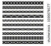 set of vector borders art... | Shutterstock .eps vector #1030078177