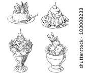 pretty desserts | Shutterstock .eps vector #103008233
