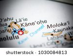 Small photo of Kane'ohe. USA on a map.