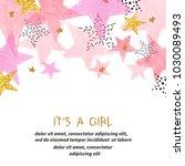 baby shower girl card design... | Shutterstock .eps vector #1030089493