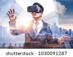 the double exposure image of... | Shutterstock . vector #1030091287