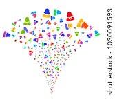 multi colored woman stream...   Shutterstock .eps vector #1030091593