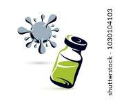 vector medical vial...   Shutterstock .eps vector #1030104103