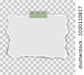 blank squared notepad pages and ... | Shutterstock .eps vector #1030110817