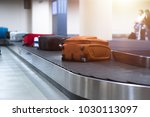 suitcase or baggage on luggage... | Shutterstock . vector #1030113097