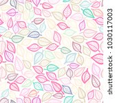 seamless pattern with leaf.... | Shutterstock .eps vector #1030117003