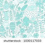 vector forest design  floral... | Shutterstock .eps vector #1030117033