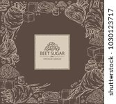 background with beet sugar ... | Shutterstock .eps vector #1030123717