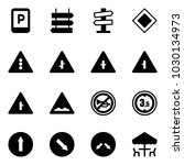 solid vector icon set   parking ... | Shutterstock .eps vector #1030134973