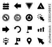 solid vector icon set   sign... | Shutterstock .eps vector #1030148893