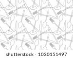 seamless pattern fork  spoon ... | Shutterstock .eps vector #1030151497