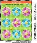 spring or summer themed word... | Shutterstock .eps vector #1030159663