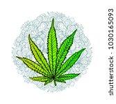cannabis leaf  marijuana  herb  ...   Shutterstock .eps vector #1030165093