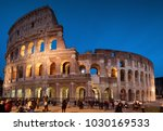 colosseum by night in rome ... | Shutterstock . vector #1030169533